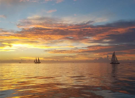 Sailboats During the Sunset
